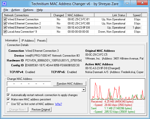 Change Your MAC Address In Windows