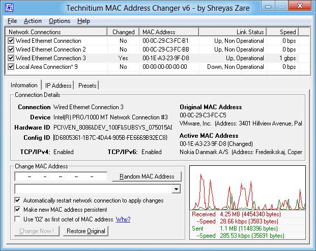 Change Your MAC Address In Windows