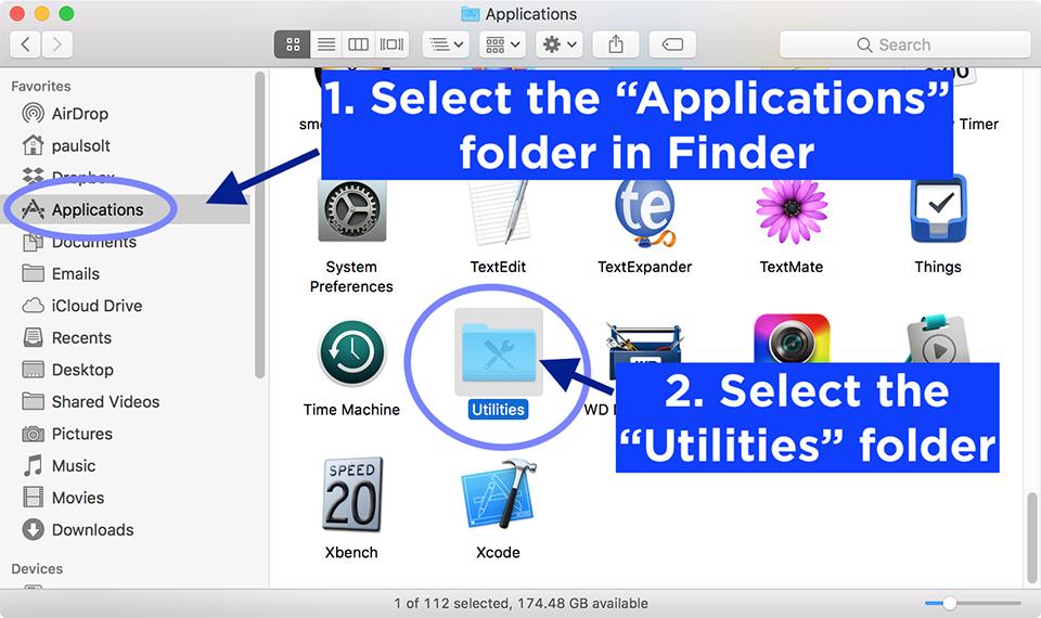 Find Wi-Fi Password in mac applications utilities