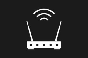 wifi router black and white