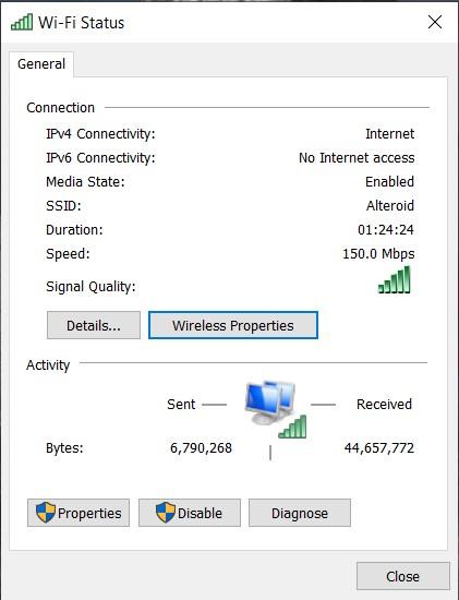 wi-fi status
