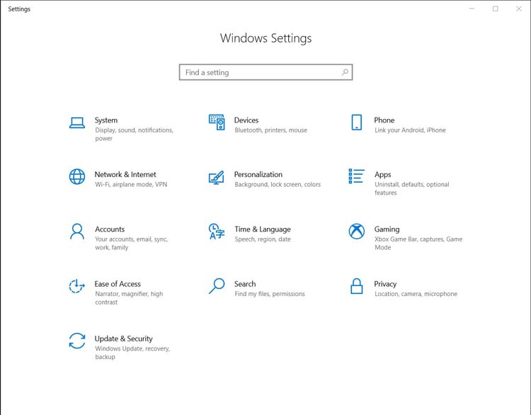 windows settings | Speed Up Your Slow Windows 10 PC