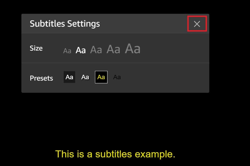 Customize Amazon Prime Video Subtitles