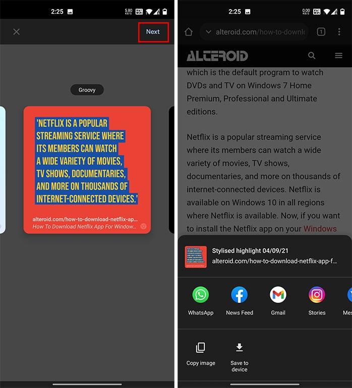 Google Chrome Share Quotes